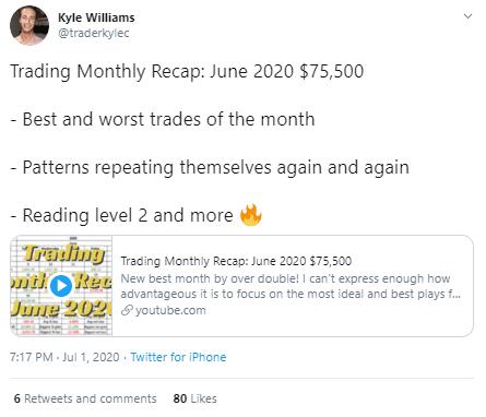 Kyle Williams Tweet
